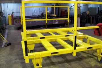 Fabrication de chariots, sandblast et peinture pour Hydro-Québec