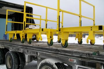 Manufacturing, Sandblasting and Painting of Trolleys for Hydro-Quebec